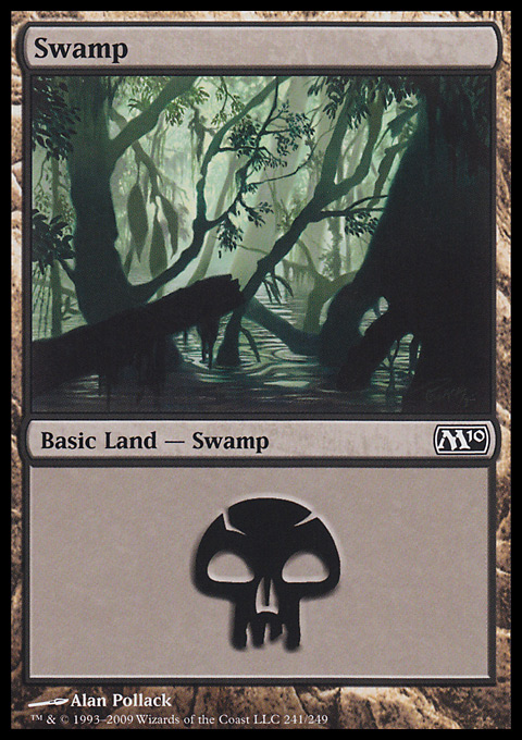 Swamp (241)  card from Magic 2010