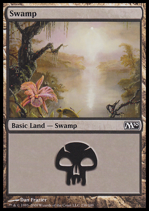 Swamp (238)  card from Magic 2010