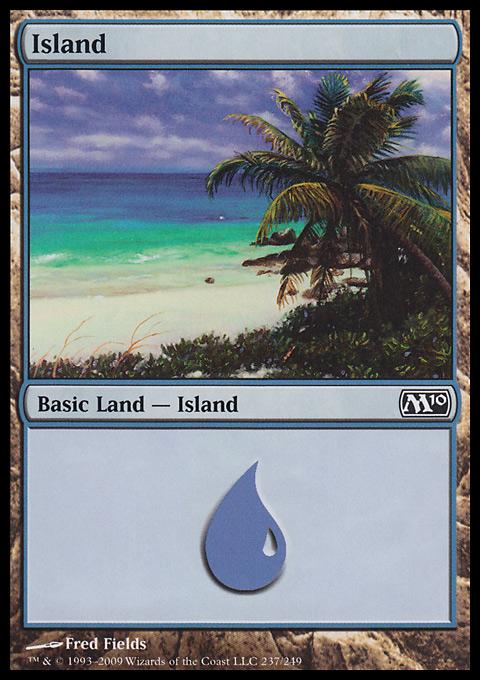 Island (237)  card from Magic 2010