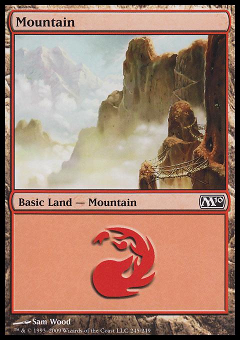 Mountain (245)  card from Magic 2010