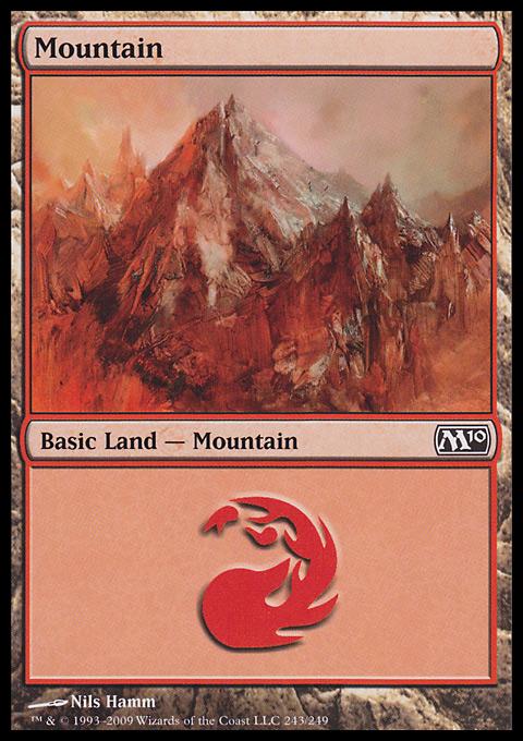 Mountain (243)  card from Magic 2010