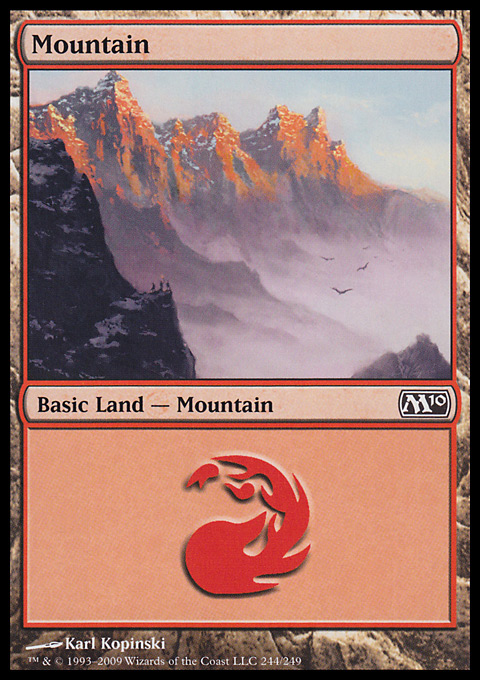 Mountain (244)  card from Magic 2010