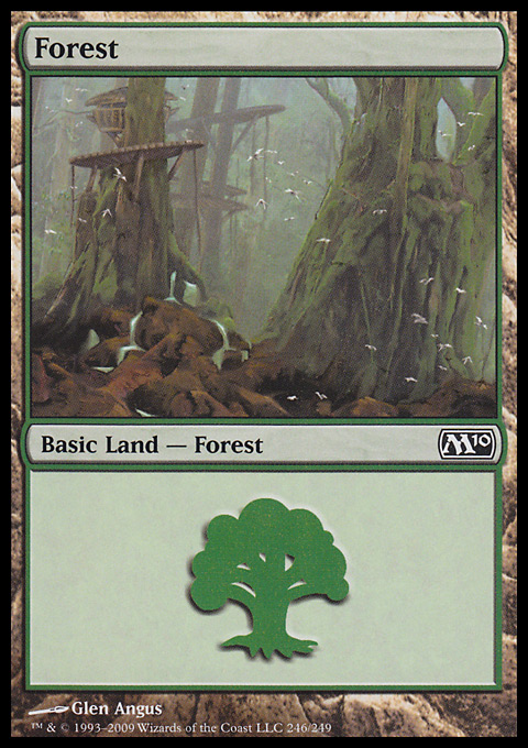 Forest (246) card from Magic 2010