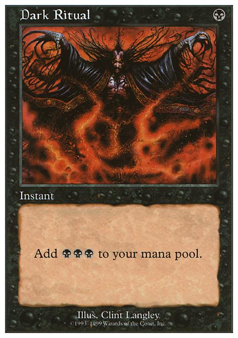 Dark Ritual card from Battle Royale Box Set