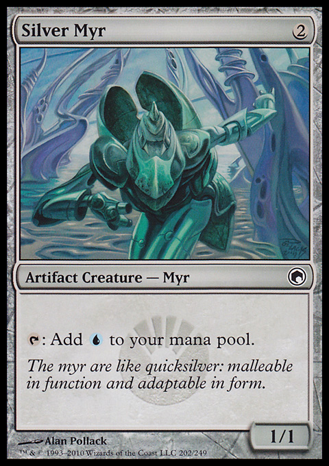 Silver Myr card from Scars of Mirrodin