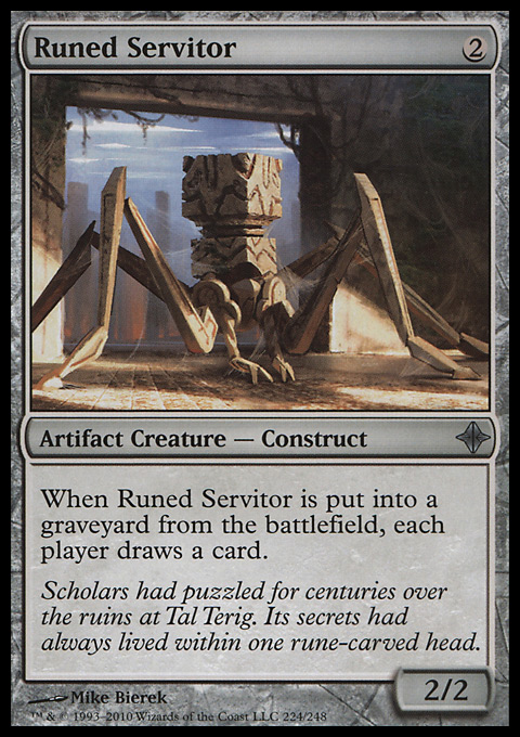 Runed Servitor card from Rise of the Eldrazi