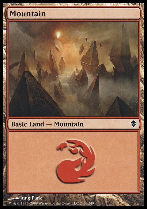 Mountain (243) - Full Art card from Zendikar