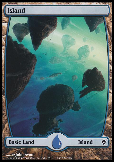 Island (234) - Full Art card from Zendikar