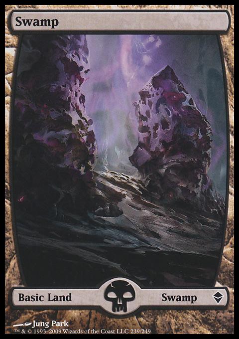 Swamp (239) - Full Art card from Zendikar