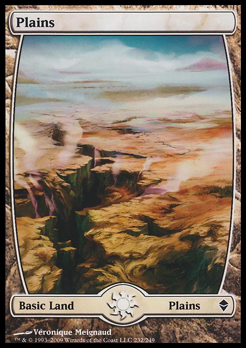 Plains (232) - Full Art card from Zendikar