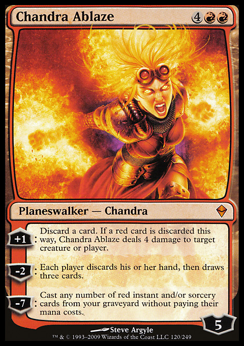 Chandra Ablaze original card image