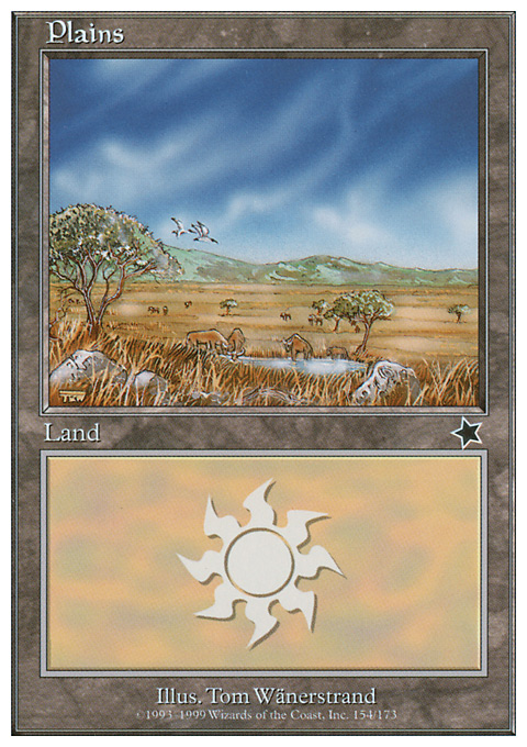 Plains (154)  card from Starter 1999