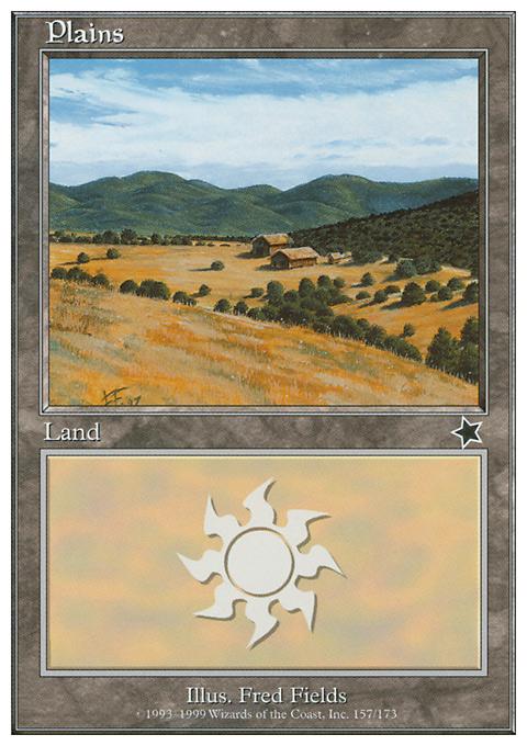 Plains (157)  card from Starter 1999