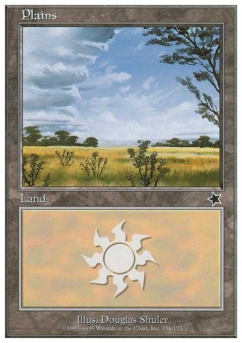 Plains (156)  card from Starter 1999