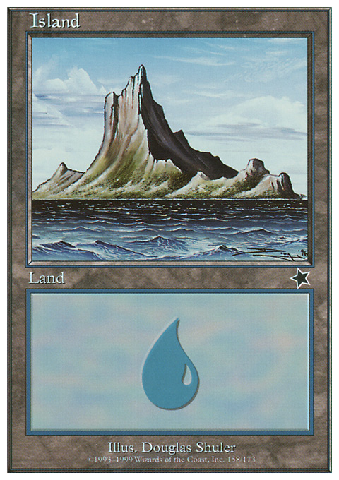 Island (158)  card from Starter 1999