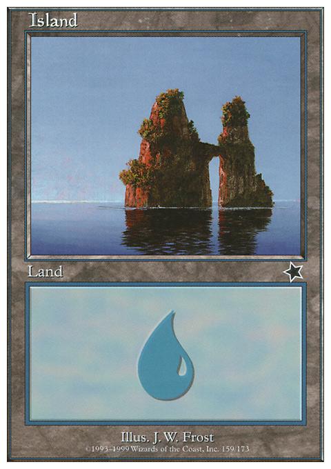 Island (159)  card from Starter 1999