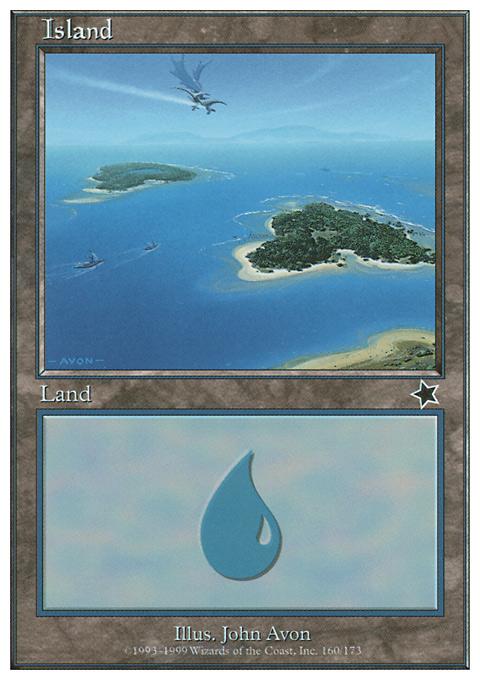 Island (160)  card from Starter 1999