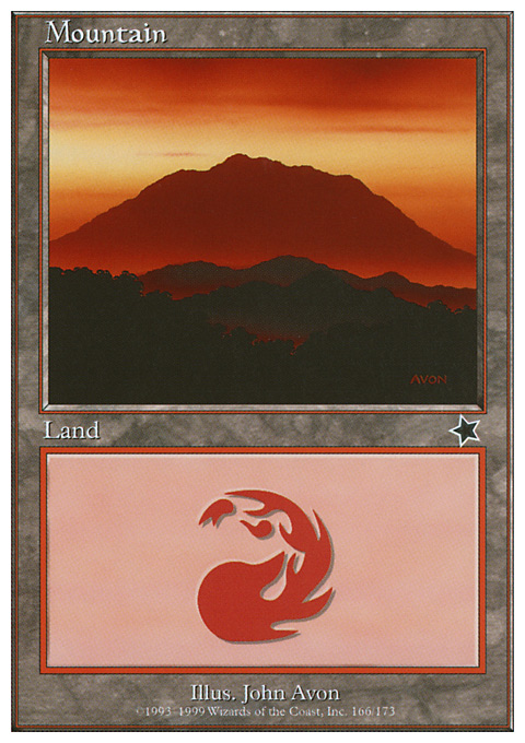 Mountain (166)  card from Starter 1999