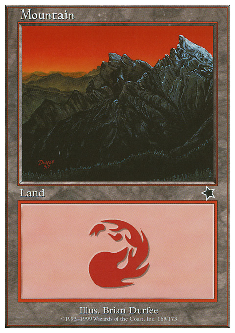 Mountain (169)  card from Starter 1999