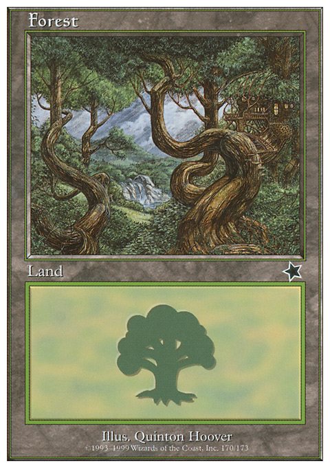 Forest (170)  card from Starter 1999
