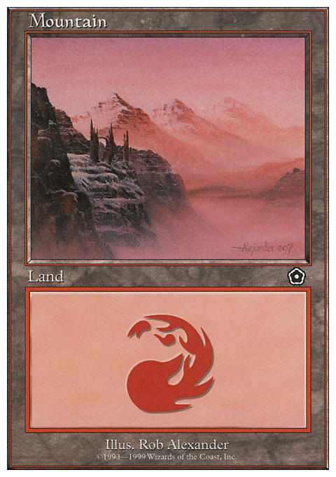 Mountain (118) card from Battle Royale Box Set