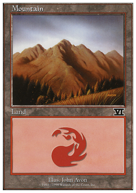 Mountain (119) card from Battle Royale Box Set
