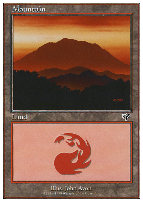 Mountain (115) card from Battle Royale Box Set