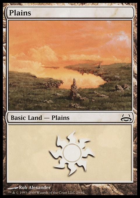 Plains (29)  card from Duel Decks: Divine vs. Demonic