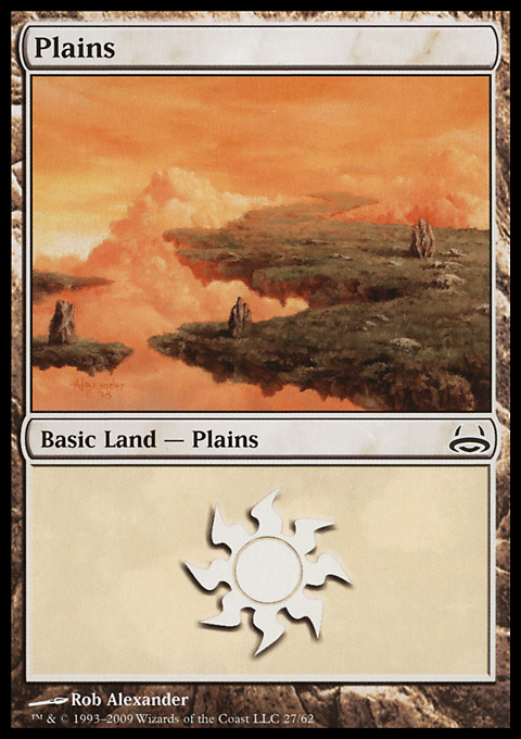 Plains (27)  card from Duel Decks: Divine vs. Demonic