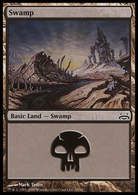 Swamp (59)  card from Duel Decks: Divine vs. Demonic