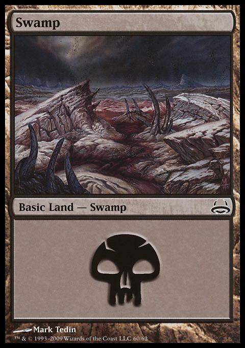 Swamp (60)  card from Duel Decks: Divine vs. Demonic