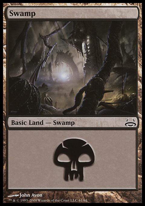 Swamp (61)  card from Duel Decks: Divine vs. Demonic