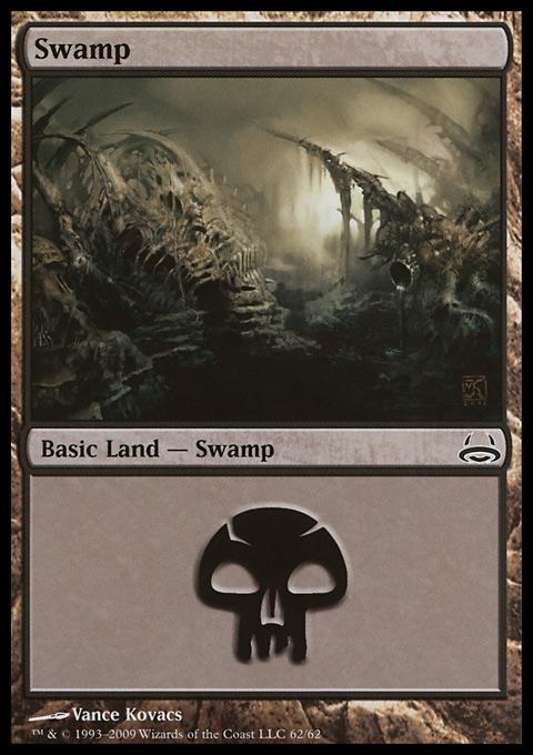 Swamp (62)  card from Duel Decks: Divine vs. Demonic