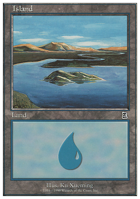 Island (River) card from Battle Royale Box Set