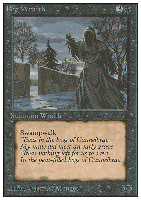 Bog Wraith card from Unlimited Edition