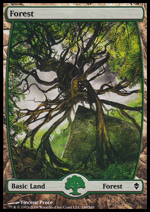 Forest (249) - Full Art card from Zendikar