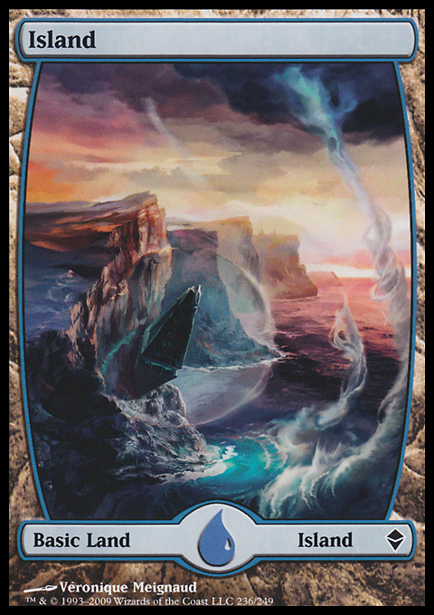 Island (236) - Full Art card from Zendikar