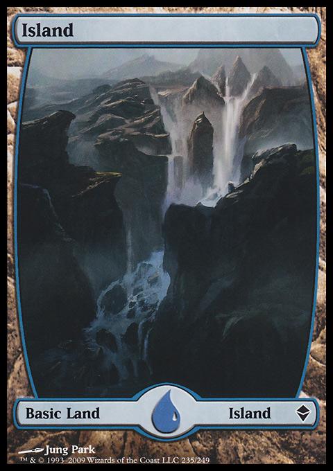 Island (235) - Full Art card from Zendikar