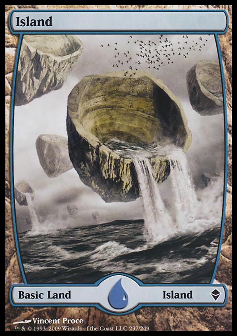 Island (237) - Full Art card from Zendikar