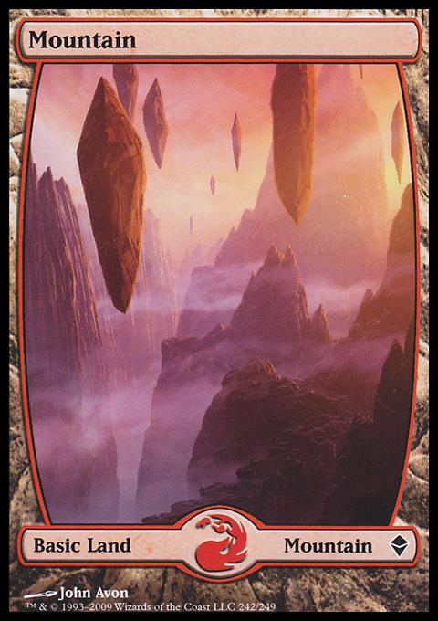 Mountain (242) - Full Art card from Zendikar