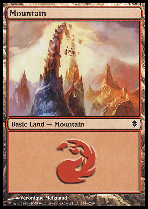Mountain (244) - Full Art card from Zendikar