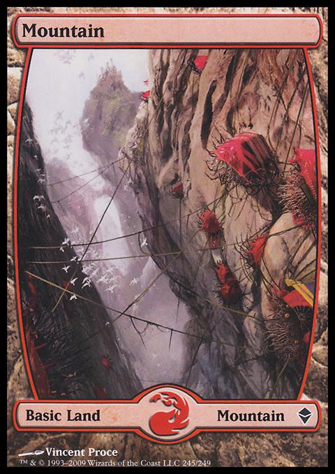 Mountain (245) - Full Art card from Zendikar