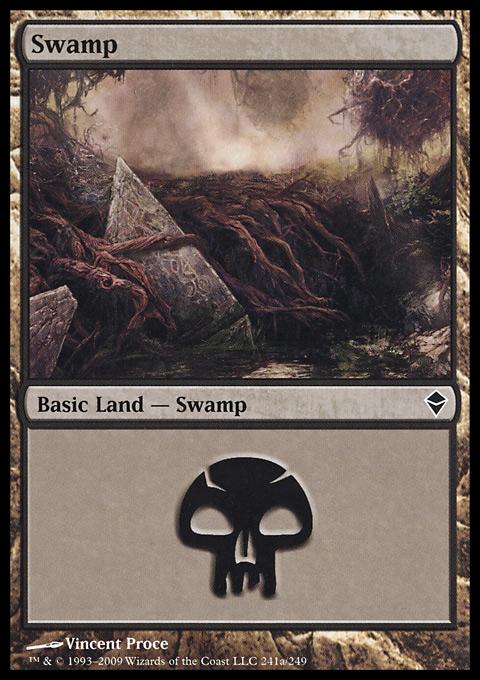 Swamp (241) - Full Art card from Zendikar