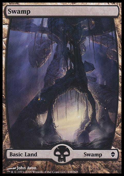 Swamp (238) - Full Art card from Zendikar