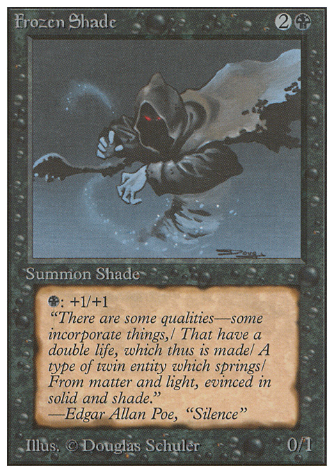 Frozen Shade card from Unlimited Edition