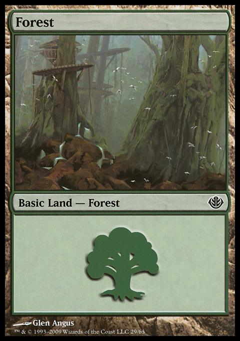 Forest (29) card from Duel Decks: Garruk vs. Liliana