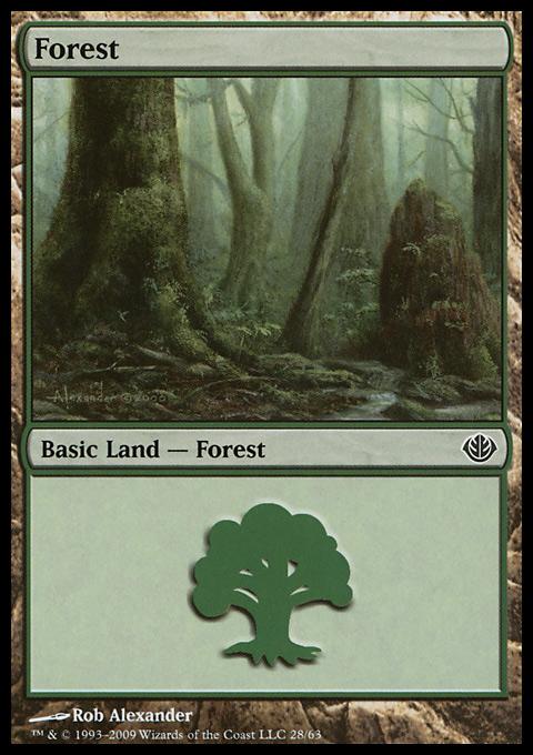 Forest (28) card from Duel Decks: Garruk vs. Liliana