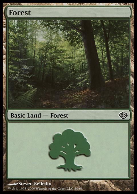Forest (30) card from Duel Decks: Garruk vs. Liliana