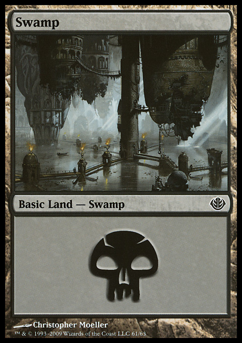 Swamp (61)  card from Duel Decks: Garruk vs. Liliana