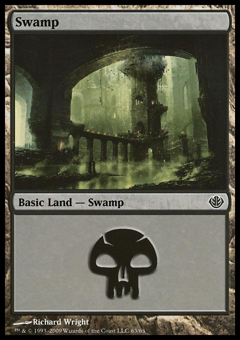 Swamp (63)  card from Duel Decks: Garruk vs. Liliana